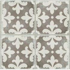 DaVinci Design Group - Decorative Porcelain Vintage Gray Villa Palazzo Deco - Wall and Floor Tile