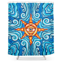 The Four Winds Shower Curtain