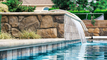Custom Pool with Spillover and Slide