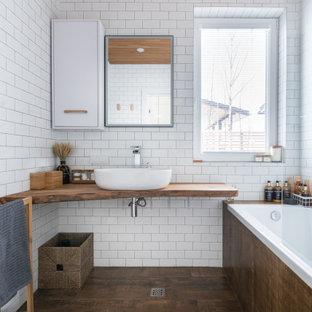 Источник вдохновения для домашнего уюта: ванная комната в скандинавском стиле