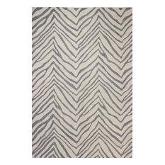 Bashian Avon Area Rug, Ivory/Gray, 8.6'x11.6'