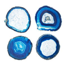 Agate Coasters, Set of 4, Blue