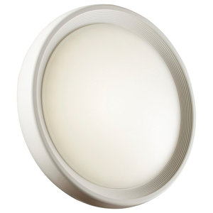 Corden Round IP65 LED Bulkhead Light, Matte White
