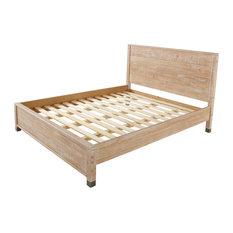 Brikk - Cutler Platform Bed, Natural, Queen - Platform Beds
