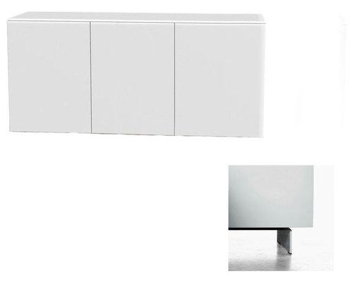 Arctic 40 Sideboard 3D, Vit/Vita Metallben - Sideborde & aflastningsborde