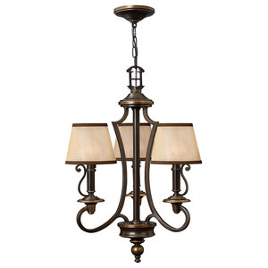 Plymouth Classic Chandelier, 3 Lights