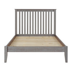 Mission Style Platform Bed, Weathered Gray, Full