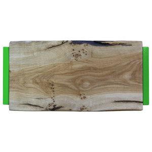 Small Natural Oak Chopping Board, Light Green