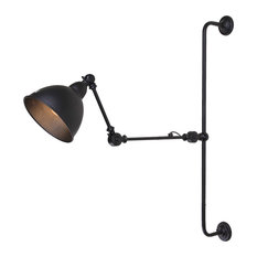 LNC - Jetson Retro-Style Adjustable Wall Lamp - Swing Arm Wall Lamps