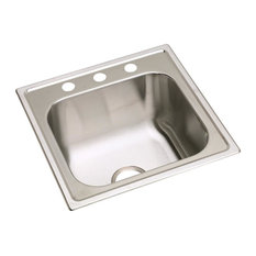 Elkay Dayton Stainless Steel Single Bowl Drop-in Laundry Sink, Highlighted Satin