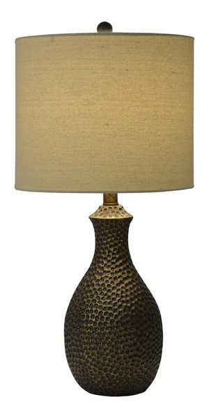 Hammered bronze table lamp transitional table lamps by decor hammered bronze table lamp mozeypictures Image collections
