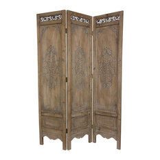 6' Tall Antiqued Scrollwork Room Divider