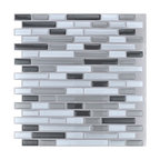 "12""x12"" Peel and Stick Kitchen Backsplash Wall Tiles, Set of 10"
