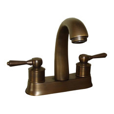 Renovator's Supply - Centerset Sink Faucet Classic Antique Brass With 2 Lever - Bathroom Faucets and Showerheads