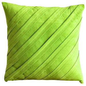 Contemporary Lime, Green Faux Suede Cushion Covers 30x30