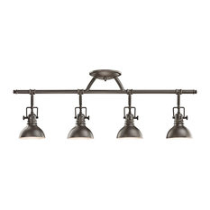 Kichler Lighting - Hatteras Bay 4-Light Halogen Rail Light, Olde Bronze -  Track