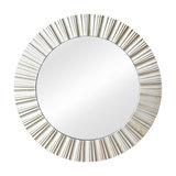 Ornate Round Silver Wall Mirror