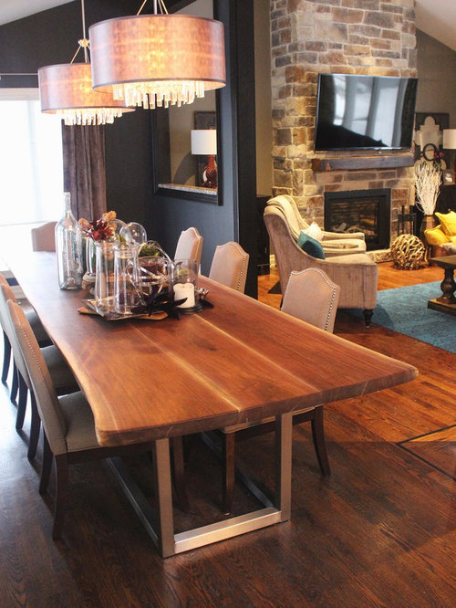 Example of a trendy home design in toronto property for Property brothers dining room designs