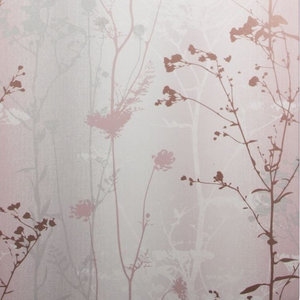 Wild Flower Floral Wallpaper, Blush, Roll