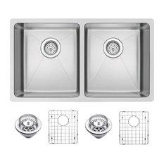 water creation double bowl stainless steel undermount kitchen sink 31 kitchen - Kitchen Sink