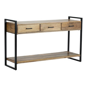 Riverside Natural Mango Wood Console Table