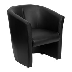 flash furniture casey leather accent chair black armchairs and accent chairs - Barrel Chairs