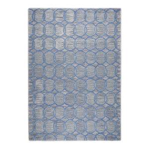 Wool Design Circles Rug, Grey, 140x200 cm