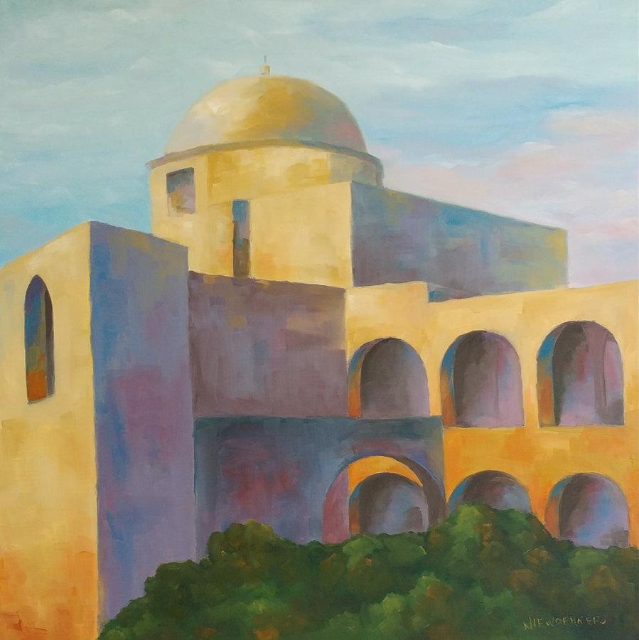 Mission San Jose, Texas, 30x30, framed