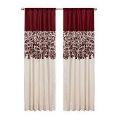 Estate Garden Red Window Curtain Single