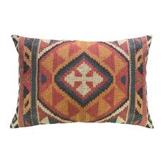 "Kilim Linen Pillow, 18""x12"""