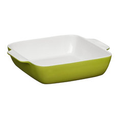 Premier Housewares - Oven Love Square Baking Dish, Lime Green, Small - Baking Dishes