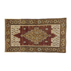 Esmaili Rugs - Consigned, Vintage Turkish Oushak Rug, 3'10 x 6'11 - Area Rugs