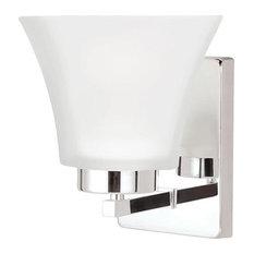 Sea Gull Lighting 4111601BLE-05 1 Light Wall / Bath Sconce Chrome Finish