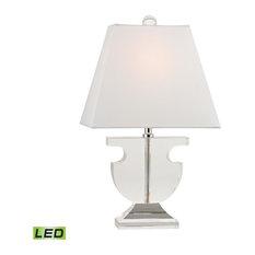 Dimond Bailey Mews Mini Solid Crystal LED Table Lamp, Clear