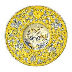 """Gubbio Ceramiche Rinascimento 11"""" Cappello da Prete Plate, Violin Musician"""