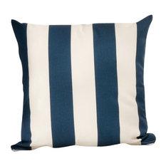 Indoor and Outdoor Cabana Throw Pillow, Navy
