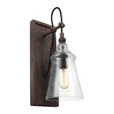 Feiss Lighting WB1850DWI Loras Wall Sconce, Dark Weathered Iron