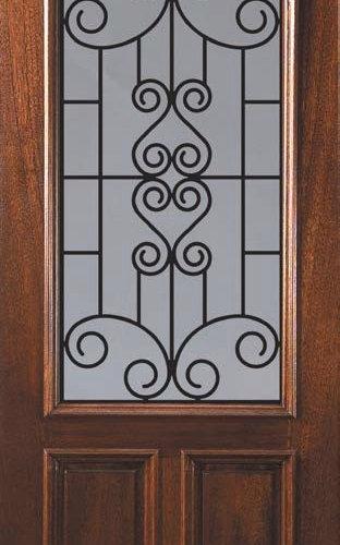 Wrought Iron Wood And Fiberglass Doors