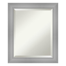 """Flair Polished Nickel Bathroom Vanity Wall Mirror, 20""""x24"""""""