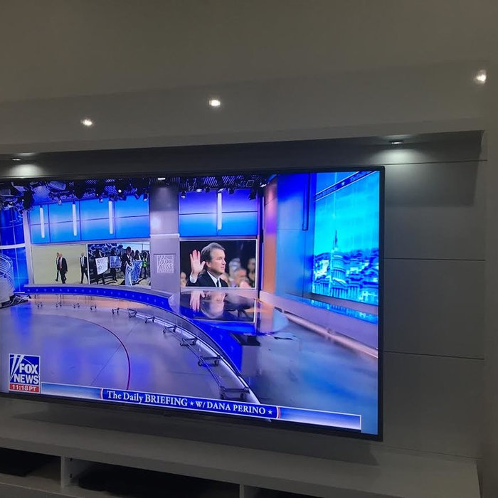 "75"" TV & Wall Mount Console Installation - Before & After"