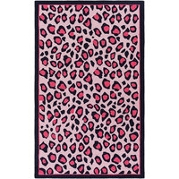 FaveDecor Animal Inspirations Russel Bright Pink, Blush Area Rug, 5'x7'6""