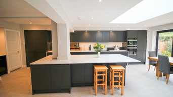 Single storey extension with modern kitchen and stylish cloakroom