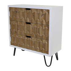 "28.25"" Bjorn Natural Origami 3-Drawer Chest"