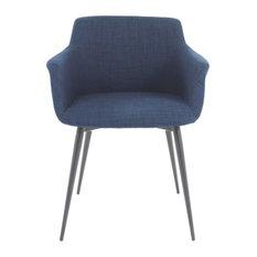 Ronda Arm Chair Blue, Set of 2