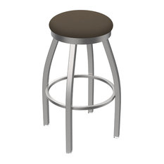 802 Misha 30-inch Swivel Bar Stool With Stainless And Canter Earth Seat