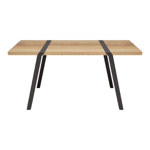 4-Seater Solid Oak Dining Table, Grey
