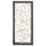 Brimfield & May - Pollock Wall Panel - A little interest goes a long way on your blank walls. This chic panel uses intersected iron ribbons to merge tough-as-nails materials with of-the-moment design.