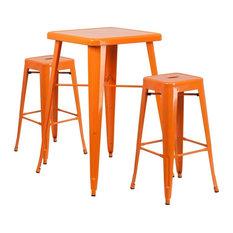 Metal Bar Table Set, Orange