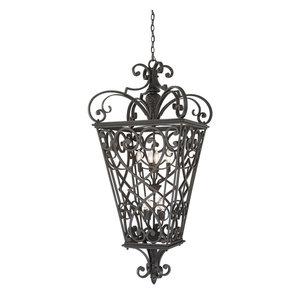 Marcado Black 8lt Chain Lantern - 8 x 60W E14