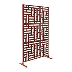 Alta Corten Steel Decorative Screen With Stand, Blocks